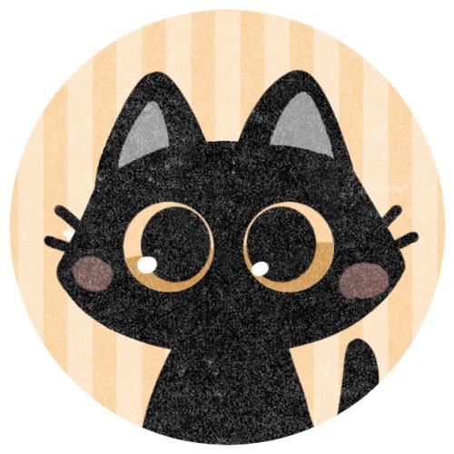 黒猫のフリーアイコンです。