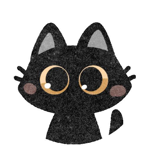 黒猫のフリーイラスト
